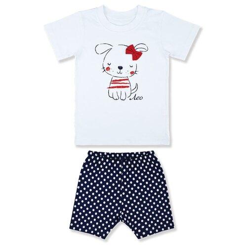 Комплект одежды LEO размер 104, белый/синий