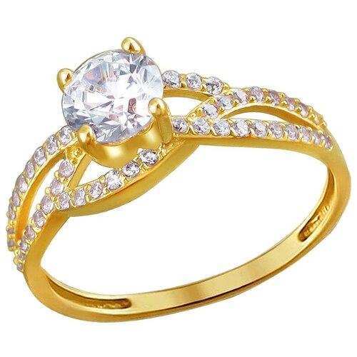 Эстет Кольцо с 49 фианитами из жёлтого золота 01К1310957, размер 19 ЭСТЕТ
