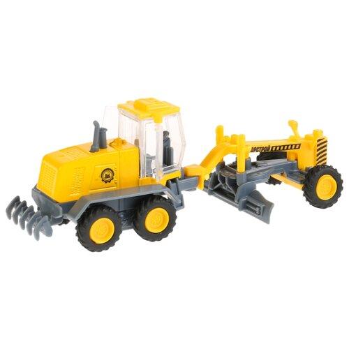 Купить Грейдер ТЕХНОПАРК SB-18-08-B-WB 17 см желтый, Машинки и техника