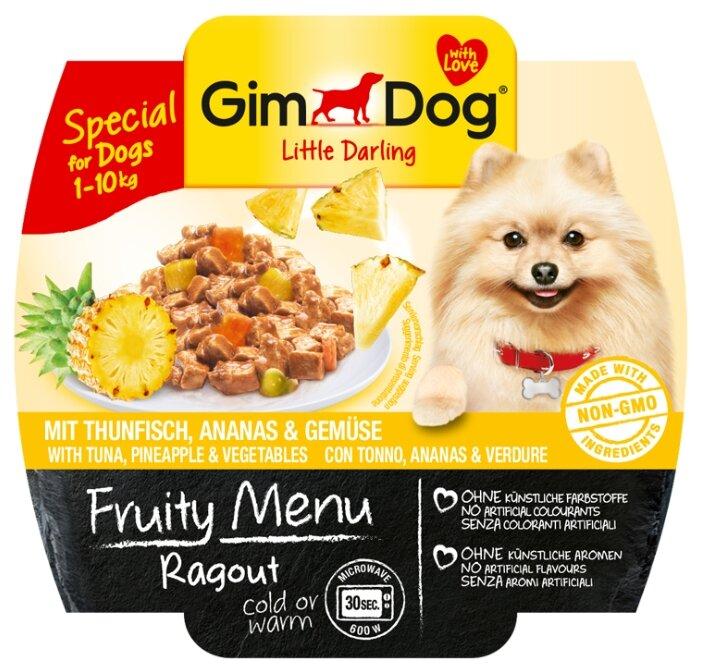 Корм для собак GimDog Little Darling Fruity Menu рагу из тунца с ананасом и овощами