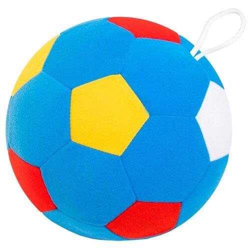 Купить Погремушка Мякиши Мяч футбольный 441 голубой/желтый/красный, Погремушки и прорезыватели