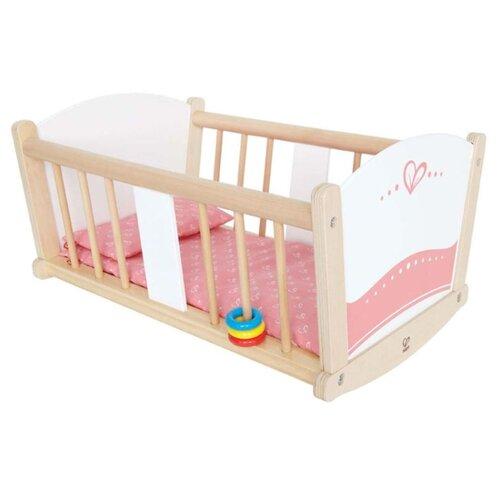Купить Hape Люлька-колыбель (E3601) белый/бежевый/розовый, Мебель для кукол