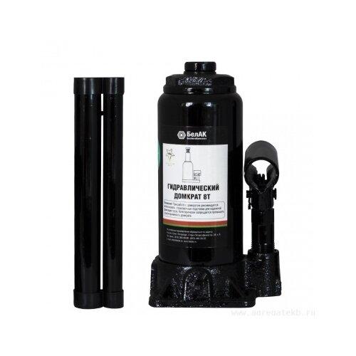 Домкрат бутылочный гидравлический БелАвтоКомплект БАК.00044 (8 т) черный