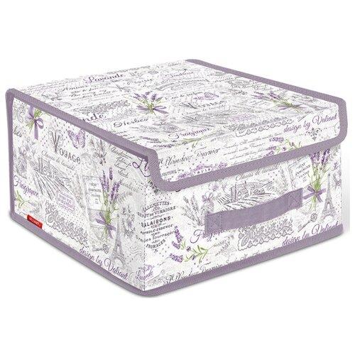 Valiant Короб стеллажный с крышкой BOX-LS 16х30х28 см lavande короб стеллажный valiant egypt двухсекционный 50 х 30 х 20 см