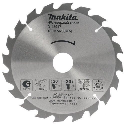 Пильный диск Makita Standart D-45917 185х30 мм пильный диск makita standart b 29309 305х15 8 мм