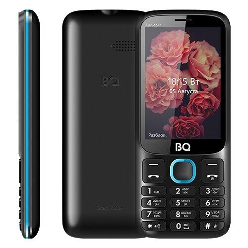 Телефон BQ 3590 Step XXL+, черный / синий мобильный телефон bq step xxl 3590 64mb черный синий 2sim 3 5 tft 320x480