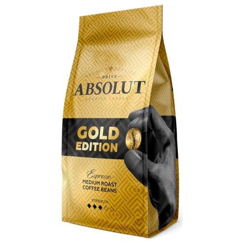Фото - Кофе в зернах Absolut Drive Gold Edition, арабика, 1000 г кофе в капсулах absolut drive латте маккиато 16 капс