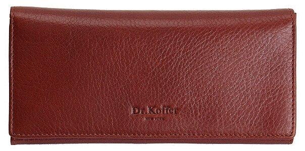 Купить Портмоне Dr.Koffer X510154-02, натуральная кожа коричневый по низкой цене с доставкой из Яндекс.Маркета
