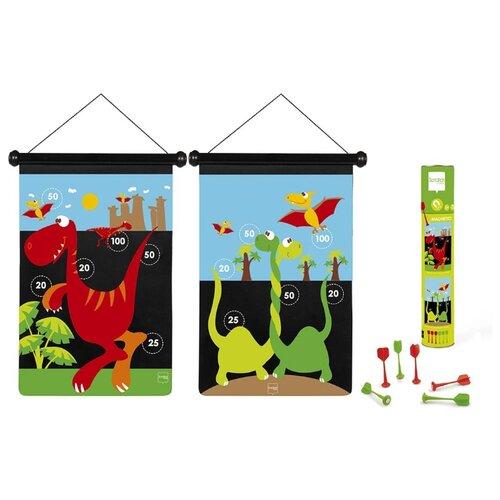 Купить Магнитный дартс Scratch Europe Динозавр (6182017) черный/красный/зеленый/голубой, Спортивные игры и игрушки