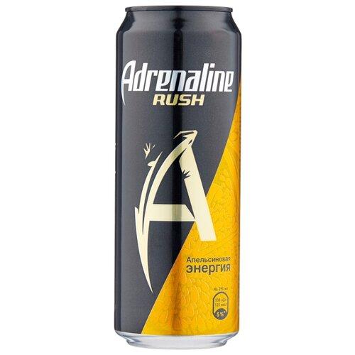 Энергетический напиток Adrenaline Rush Juicy апельсиновая энергия, 0.449 л
