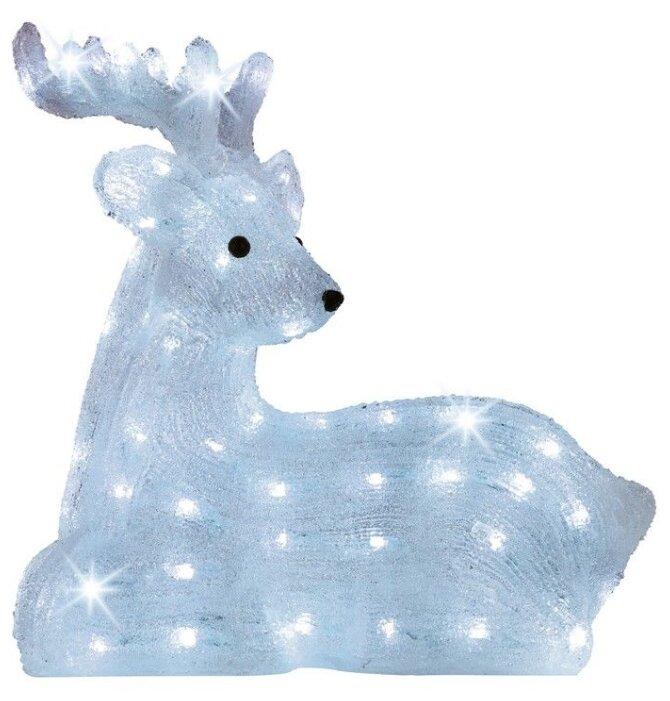 Фигурка Kaemingk Лежащий олень светодиодный 43