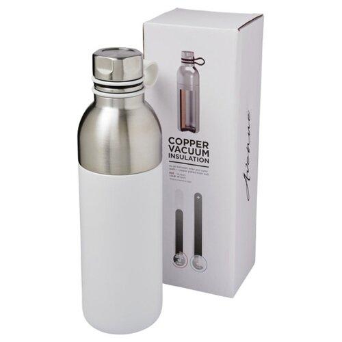 Медная спортивная бутылка с вакуумной изоляцией Koln объемом 590 мл, белый