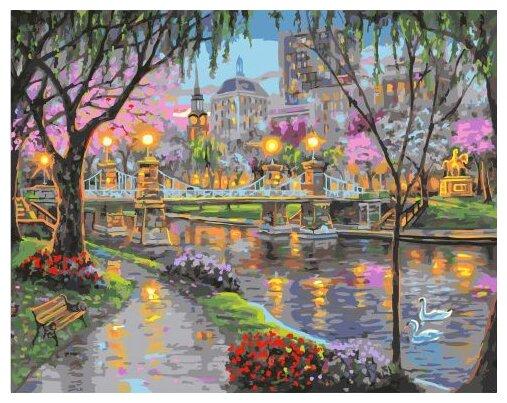 Купить Картины по Номерам на Холсте 40 х 50 см Романтика - Набережная Холст на Подрамнике по низкой цене с доставкой из Яндекс.Маркета (бывший Беру)