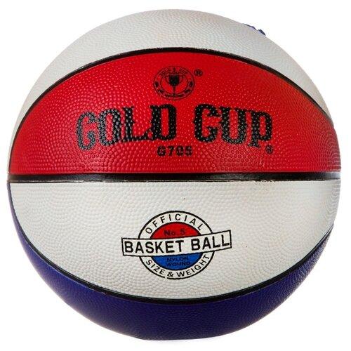 Фото - Баскетбольный мяч Gold Cup G705, р. 5 белый/красный/синий cup