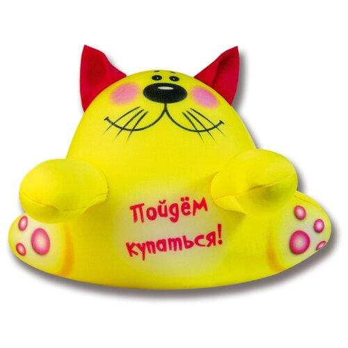 Купить Игрушка для ванной Штучки, к которым тянутся ручки Аква крошки Кот желтый (15аси17ив-4) желтый, Игрушки для ванной