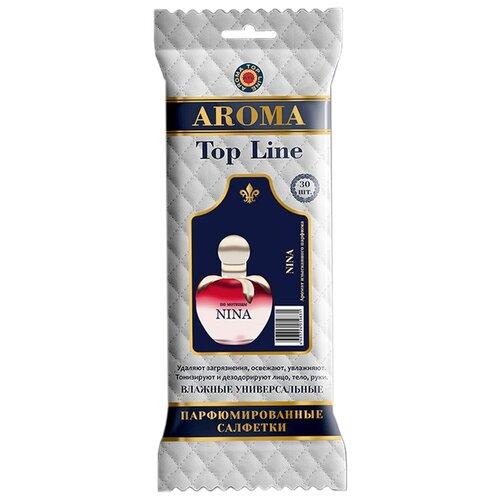 Фото - Влажные салфетки AROMA TOP LINE универсальные парфюмированные Nina Ricci Nina №12, 30 шт. top gear влажные салфетки для