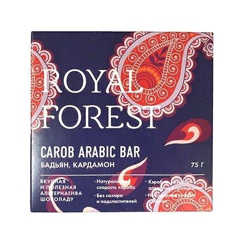 Фото - Шоколад ROYAL FOREST Carob Arabic Bar из кэроба с бадьяном и кардамоном, 75 г royal forest carob drops дропсы из порошка плодов рожкового дерева 50 г