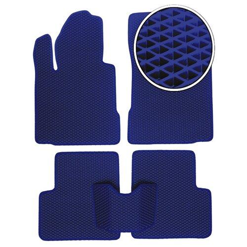 Автомобильные коврики EVA на Ford S-MAX 2006 - 2012 - Темно-синий