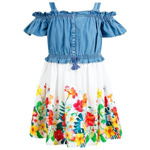 Купить Платье Mayoral размер 116, синий/белый/красный, Платья и сарафаны