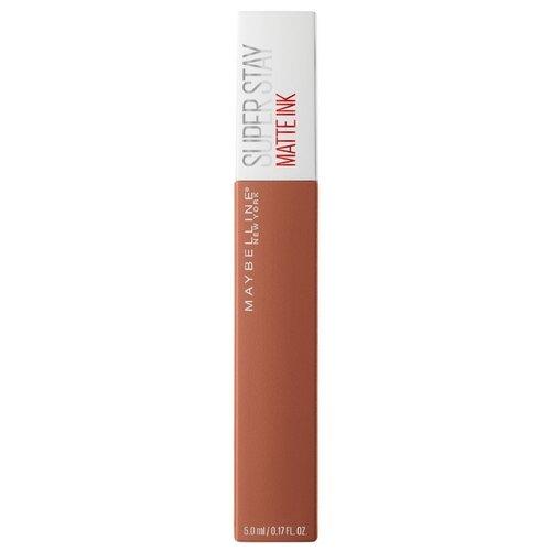 Maybelline Super Stay Matte Ink жидкая помада для губ стойкая матовая, оттенок 75, FighterПомада<br>