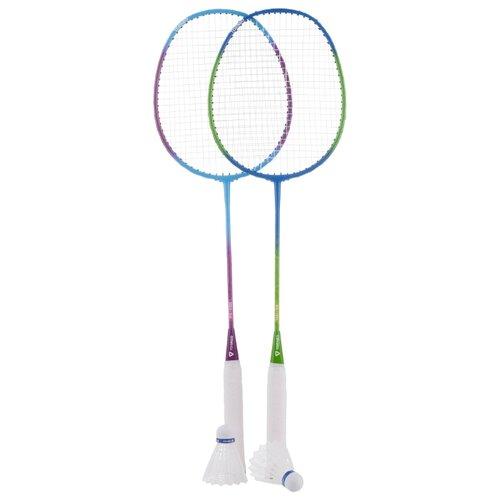 Фото - Набор ракеток для бадминтона 2шт (волан, чехол) Torneo RS-1100 голубой/фиолетовый/зеленый torneo турник torneo 3 в 1