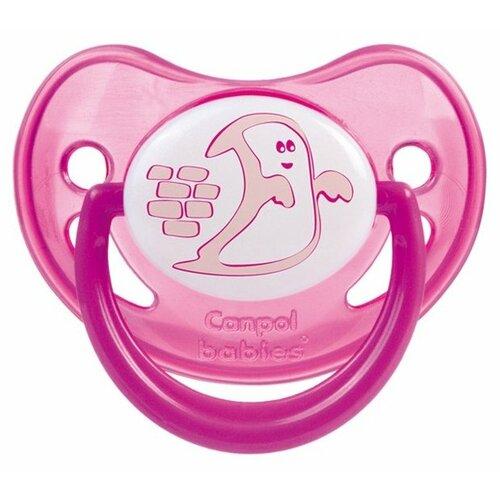 Пустышка силиконовая ортодонтическая Canpol Babies Night Dreams 0-6 м (1 шт.) розовый