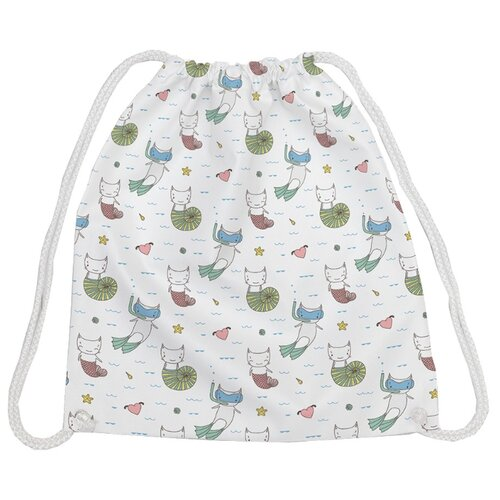 Купить JoyArty Рюкзак-мешок Которыбки (bpa_164387) белый/зеленый/красный, Мешки для обуви и формы