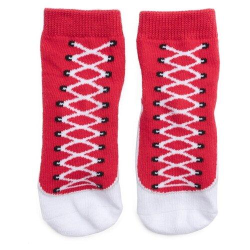 Носки playToday размер 11, красный/белый платье oodji ultra цвет красный белый 14001071 13 46148 4512s размер xs 42 170