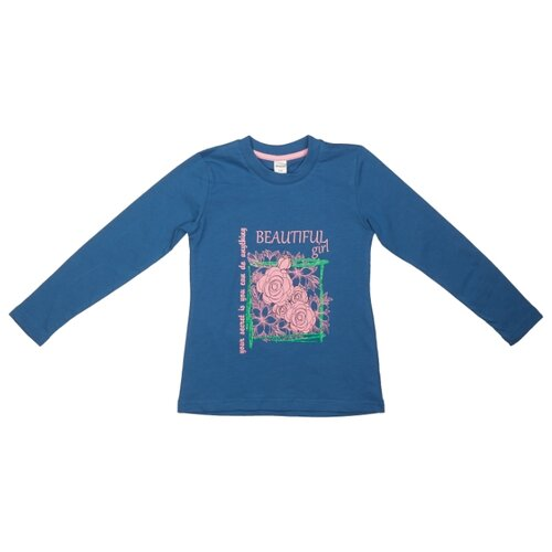 Купить Лонгслив #Repost размер 152, сине-голубой, Футболки и майки