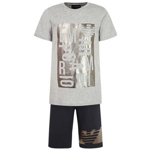 Комплект одежды EMPORIO ARMANI размер 104, серый/синий комплект emporio armani emporio armani em598emwkn53