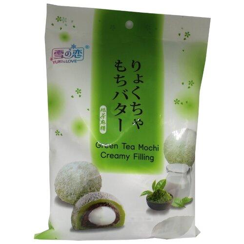 Моти Yuki & Love Дайфуку Зелёный чай с кремом 120 г мыло с колд кремом авен