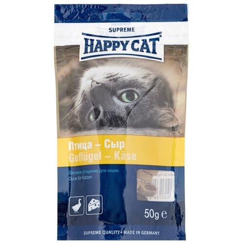 Лакомство для кошек Happy Cat Птица-Cыр, 50г