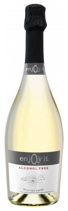 Вино игристое белое сухое Enjoy It безалкогольное 0,75 л