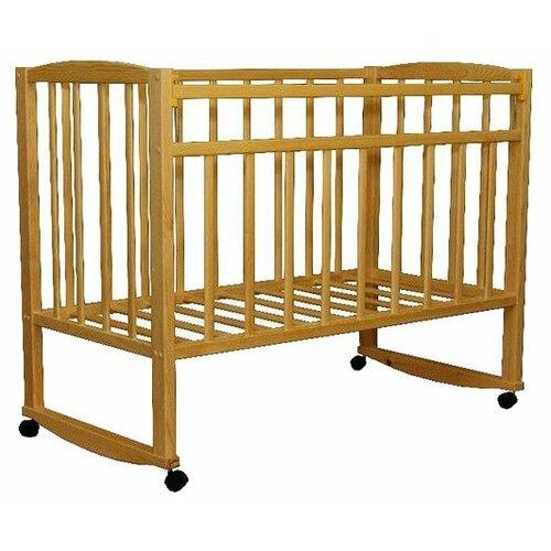 Кроватка Волжская деревообрабатывающая компания Кр1-02м (качалка), на полозьях береза