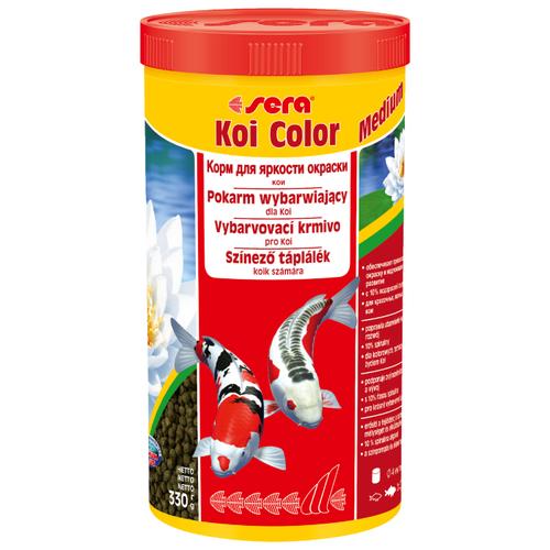Сухой корм для рыб Sera Koi Color medium 1000 мл 330 г сухой корм для рыб sera koi professional лето 1000 г