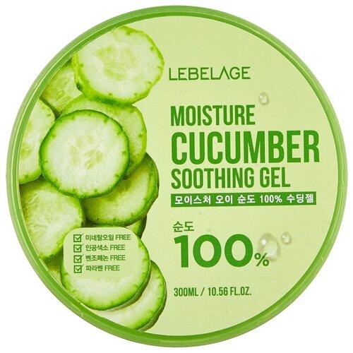 Гель для тела Lebelage увлажняющий успокаивающий с экстрактом огурца Moisture Cucumber Soothing Gel, 300 мл