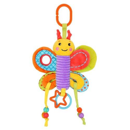 Купить Подвесная игрушка Жирафики Бабочка (939721) зеленый/оранжевый/голубой, Подвески