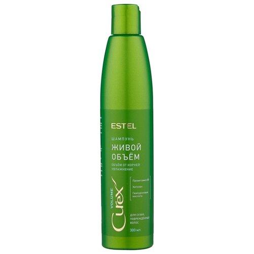 ESTEL шампунь Curex Volume Живой объем для сухих, поврежденных волос 300 мл бальзам живой объем для сухих и поврежденных волос curex volume 250мл