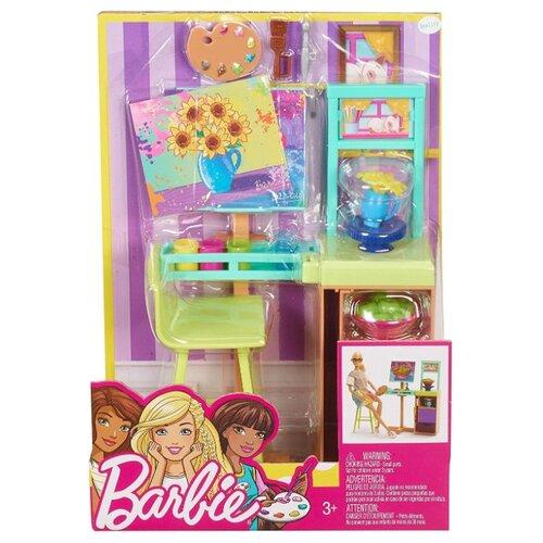 Купить Barbie Художественная студия (FJB26) голубой/зеленый, Мебель для кукол