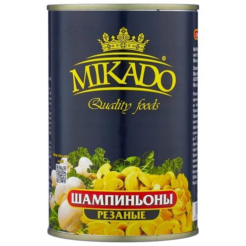 Шампиньоны MIKADO соленые резаные 425 мл бомбарда mikado медленно тонущая smtc 24