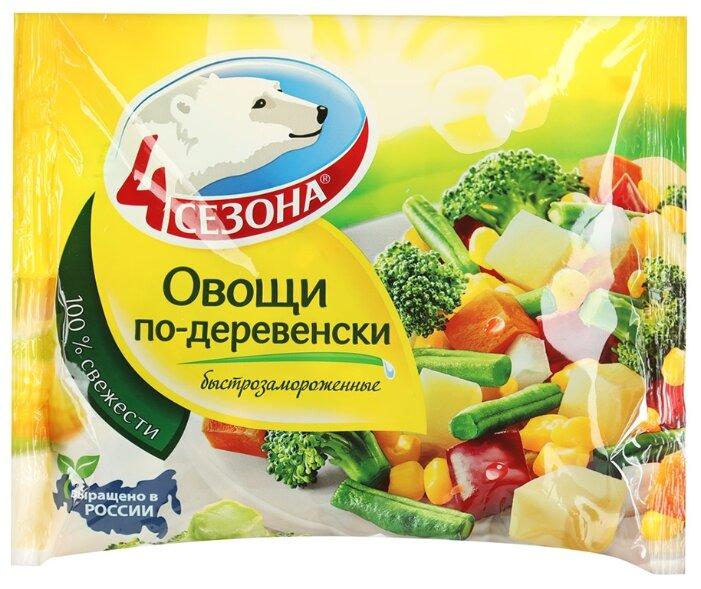 4 Сезона Замороженная овощная смесь Овощи по-деревенски 400 г
