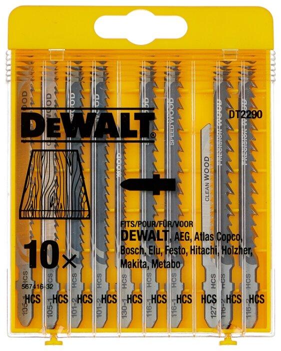 Набор пилок для лобзика DeWALT DT 2290 10 шт.