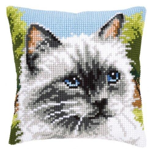 Купить Vervaco Набор для вышивания Сиамская кошка 40 x 40 см (0146067-PN), Наборы для вышивания