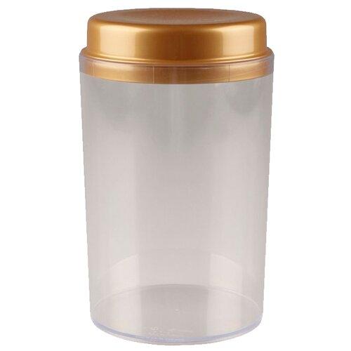 Phibo Ёмкость для сыпучих продуктов Deluxe (1.4 л) коричневый/прозрачный phibo контейнер для хранения продуктов на защелке 2 л