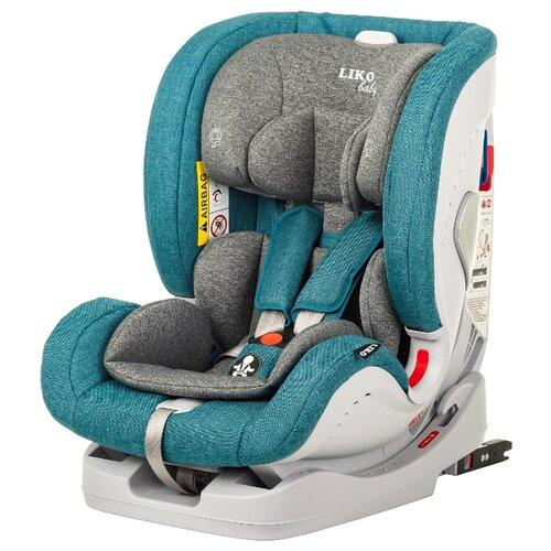 Купить Автокресло группа 0/1/2/3 (до 36 кг) Liko Baby Sprinter Isofit (Isofix), волна в точку, Автокресла