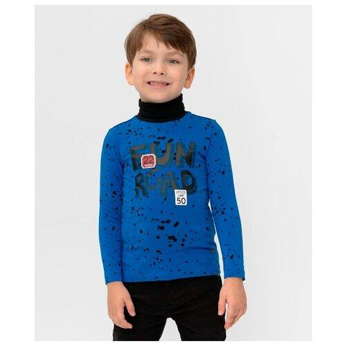 Купить Водолазка Button Blue размер 128, синий, Свитеры и кардиганы