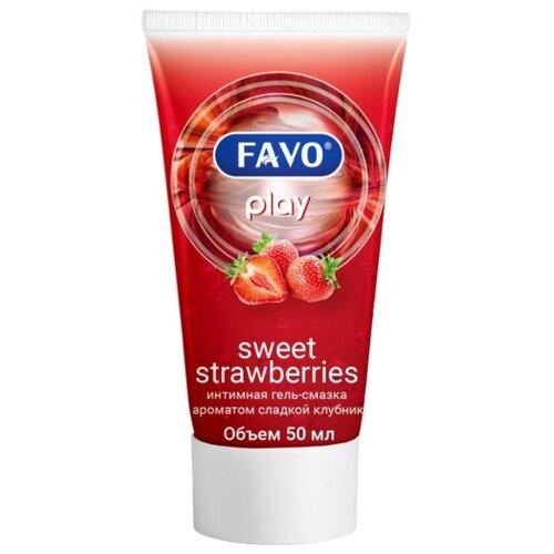 Гель-смазка FAVO Sweet strawberries 50 мл туба гель смазка favo sensual vanilla 50 мл туба