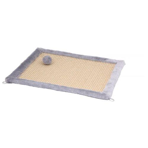 Когтеточка Joy коврик 50 х 40 см серый\бежевый
