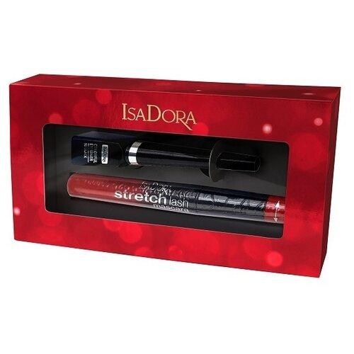 IsaDora Набор: Тушь для ресниц Stretch Lash Mascara 01, подводка для век Colorful Eyeliner 10
