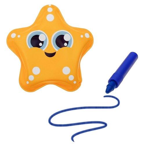 Набор для ванной Крошка Я Звёздочка + водный карандаш (3045302) желтый/синий, Игрушки для ванной  - купить со скидкой